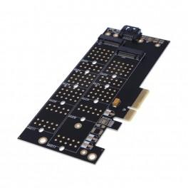 Adaptér PCIe pro M.2 NGFF SSD a M.2 NVMe SSD