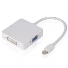 Video adaptér mini Display Port (DP) pro  HDMI/DVI/VGA